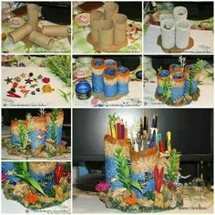 Your pen holder truestory art attack pinterest pen holders how to make coral reef pencil holders diy diy ideas diy crafts do it yourself diy projects pencil holders coral reef solutioingenieria Images