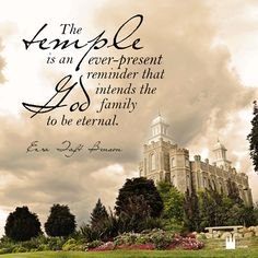 Ezra Taft Benson on the Temple !