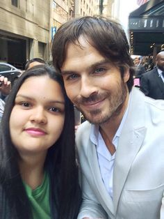 Lucky Girl with Ian Somerhalder at #CWUPFRONT #TVD (05/14/15)