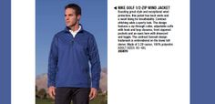 Have a look on this very amazing Nike Golf 393870 1/2-Zip Wind Jacket available at ApparelnBags.com