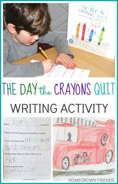 The Day the Crayons Quit Writing Activity