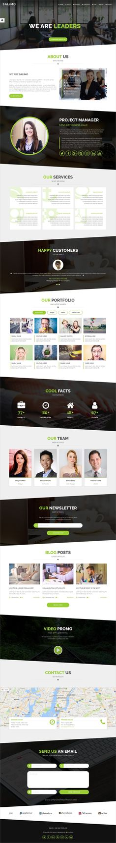 Salimo is a creative #onepage responsive HTML #Bootstrap template for #webdev multipurpose corporate business website with 7 homepage layouts download now➩ https://themeforest.net/item/salimo-creative-one-page-template/19128817?ref=Datasata