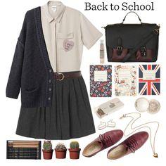 """Back to School"" by loveliness-ccv on Polyvore"
