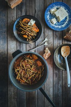 Fasolakia (Souvlaki For The Soul) braised green beans with sweet potato Side Recipes, Greek Recipes, Clean Recipes, Braised Greens, Veggie Casserole, Tasty, Yummy Food, Fun Food, Delicious Recipes