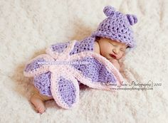 Ravelry: Butterfly Cuddle Critter Cape-Newborn Photography Prop pattern by Elisabeth Spivey