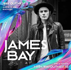 #JamesBay confirmed for @wayoutwestgbg 2016
