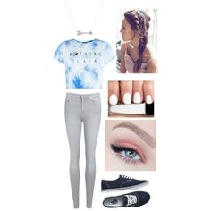 A fashion look from August 2015 by katy-nes-cata featuring 7 For All Mankind, Vans and Adina Reyter