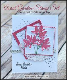 Birthday Card Idea using Stampin' Up! Avant Garden stamp set