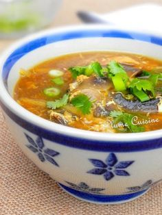 Soupe Chinoise au poulet, soupe Sechuan - The Best Chinese Recipes Asian Recipes, Gourmet Recipes, Soup Recipes, Cooking Recipes, Healthy Recipes, Ethnic Recipes, Chicken Recipes, Chinese Chicken, Chinese Food