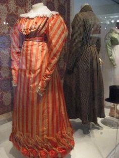 1820's dress Striped Dress #2dayslook #lily25789 #StripedDress www.2dayslook.com