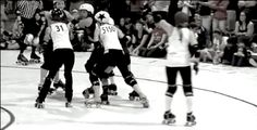 You Should Be Watching More Roller Derby Footage. There are lots of Texies with great blocking footwork, but Polly Gone is one of my favorites to watch and learn from. (Look for the Brooklyn Skate Co skates that are blocking Oly jammer 5150.) Texas vs Oly, 2014 Big O