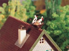Faller 130280 - Casa con nido di cicogne a 27.77 EUR