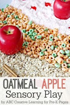 Oatmeal Apple Sensory Play for Preschool