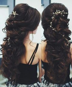 hair on Somegram Posts, Videos amp; Quince Hairstyles, Evening Hairstyles, Wedding Hairstyles For Long Hair, Hairstyles Haircuts, Cool Hairstyles, Medium Haircuts, Modern Haircuts, Layered Hairstyles, Hairdo Wedding