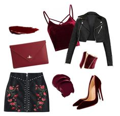 """osz"" by lillus-lako-ll on Polyvore featuring Christian Louboutin, Vivienne Westwood and GUESS by Marciano"