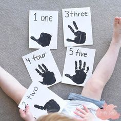 DIY Handprint Counting Flashcards for Toddlers & Preschoolers! ✋ӿ… DIY Handprint Counting Flashcards for Toddlers & Preschoolers! ✋🏼 Here's some simple Flashcards & I made last week. She enjoyed… Numbers For Toddlers, Flashcards For Toddlers, Numbers Preschool, Learning Numbers, Preschool Learning, Toddler Preschool, Toddler Counting, Maths For Toddlers, Teaching Toddlers Letters