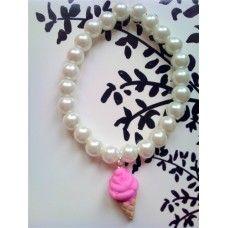 Ice Cream Bracelet made by Fairypants in - Bracelet Making, Jewelry Making, Ice Cream, Bracelets, How To Make, Jewellery, No Churn Ice Cream, Bangles, Gelato