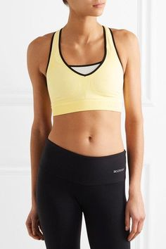 FALKE Ergonomic Sport System - Stretch-jersey Sports Bra - Pastel yellow - x small