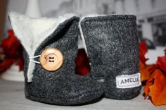 Baby Bailey Button UGG Style Boots  by BabesofInishmore on Etsy, $19.95