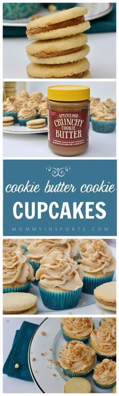 Do you love cookie butter? Then you will love this recipe for cookie butter cupcakes using Speculoos Cookie Butter and crushed Cookie Butter Cookies! Can you say food porn? They aren't too sweet and have the perfect amount of crunch!