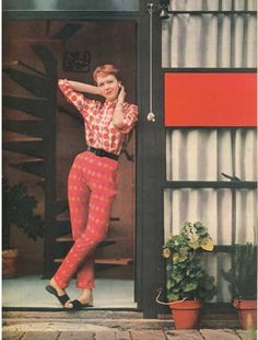 1950s Vogue magazine fashion shoot at the Eames House
