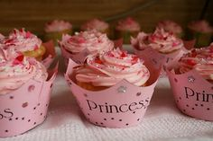 Princess Cupcake Holders. I just printed off a template to make these for Brayli's Birthday party!!!  (: