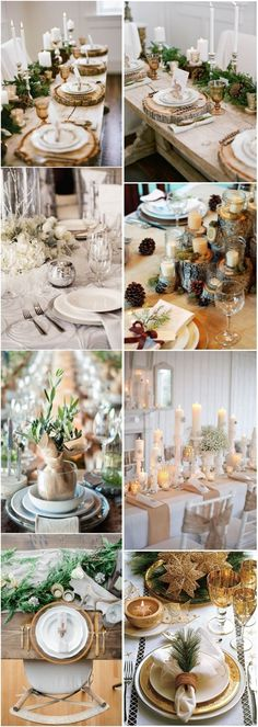 30 Spectacular Winter Wedding Table Setting Ideas | http://www.deerpearlflowers.com/spectacular-winter-wedding-table-setting-ideas/