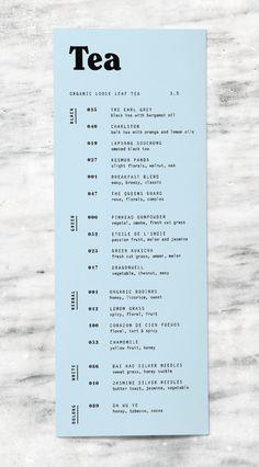 Till & Sprocket Menu by Will Gardner // menu design, typography, user experience, branding, graphic design Menu Layout, Print Layout, Layout Design, Print Design, Web Design, Menu Restaurant, Restaurant Design, Restaurant Identity, Cafe Menu Design
