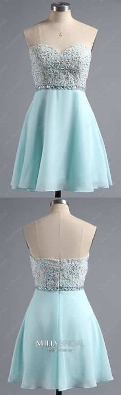 Blue Homecoming Dresses A Line, Short Prom Dresses Sweetheart, Chiffon Party Dresses Beading, Lace Sweet Sixteen Dresses For Teens Cheap Pageant Dresses, Beauty Pageant Dresses, Dresses Short, Prom Dresses, Graduation Dresses Long, Unique Homecoming Dresses, Vintage Formal Dresses, Formal Dresses For Weddings, Formal Prom