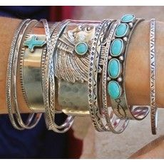 Indian Cuff with Turquoise Stone