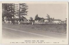 1958-BATHURST-New-Brunswick-NB-Canada-Real-Photo-RPPC-Postcard-FERGUSONS-MOTEL