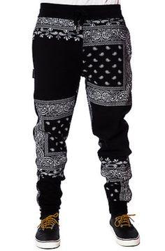 The Bandana Squares Sweatpants in Black