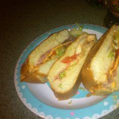 Sandwich de jamon estilo boricua