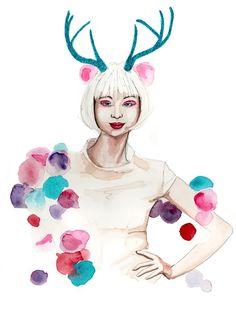 christmas fashion illustration by Tracy Hetzel
