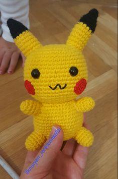 Pokemon Crochet Pattern, Pikachu Crochet, Crochet Patterns, Pokemon Plush, Amigurumi Toys, Retro, Maya, Origami, Witch