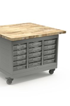 Cascade Maker Table with Butcherblock Top