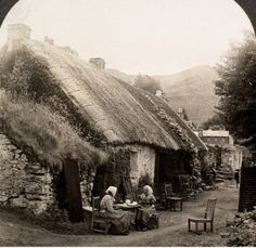 SCOTLAND: HIGHLAND HOME. - A home in the Scottish Highlands. Photographed c1902.