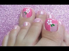 Pretty Toe Nails, Cute Toe Nails, Pretty Toes, Toe Nail Art, Mint Nails, Polygel Nails, Nude Nails, Manicure And Pedicure, Pedicures