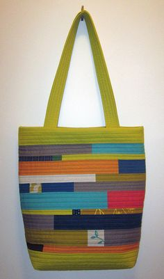 back of green quilted bag by bananaphone, via Flickr
