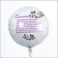 It's finally here, the long-awaited baby has seen the light of day. Surprise the proud parents with a very special welcome and give our exclusive poem balloon birth.The balloon is approximately 45 cm in diameter.Your balloon Greetings are available in a huge cardboard box.
