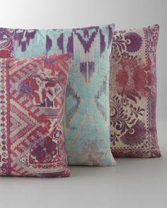 Tracy Porter Pink & Aqua Pillows - Horchow