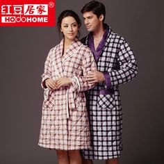 86ab6d9f83 100% polyester quilted coral fleece women  men robe  bathrobe for autumn   winter free shipping  58.50