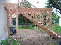 Construction assistée de votre terrasse bois à Angers - Terrasse sol ou suspendue - Ossature et plage de piscine - Pergola