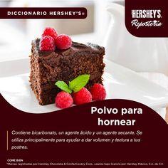 Conoce más del mundo de los postres con Hershey's® Repostería. #Hersheys #Chocolate #InspiraSonrisas #Repostería #Postres #Receta #Diccionario #Delicioso