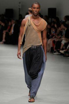 Drop Crotch Trousers Denim #MAN #SS14