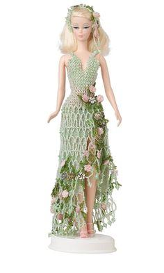Muñeca con Semilla-rebordeó el vestido - Fuego Mountain Gems and Beads