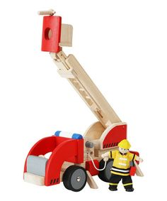 Take a look at this Fire Engine by PlanToys on #zulily today!