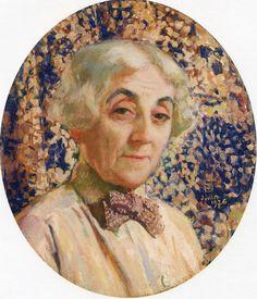 Portrait of Maria van Rysselberghe,1926,by Theo van Rysselberghe