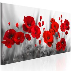 Poppies flower Canvas Paintings On The Wall Art Posters And Prints Red Flowers Canvas Art Wall Pictures For Bed Room Cuadros Flower Painting Canvas, Flower Canvas, Painting Frames, Painting Prints, Flower Art, Wall Canvas, Canvas Art, Canvas Paintings, Art Sur Toile