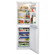 Buy Hotpoint RFAA52P Freestanding Fridge Freezer, A  Energy Rating, 55cm Wide, White Online at johnlewis.com